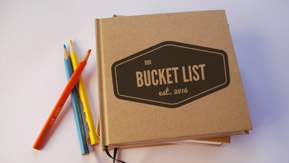 CUSTOM Our Bucket List Anniversary Gift Journal · Our Wedding Anniversary Book · Our Bucket List · Paper Anniversary Gift