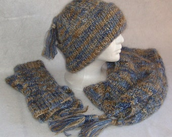 Just Right Cable Hat/Scarf/Fingerless Gloves Set