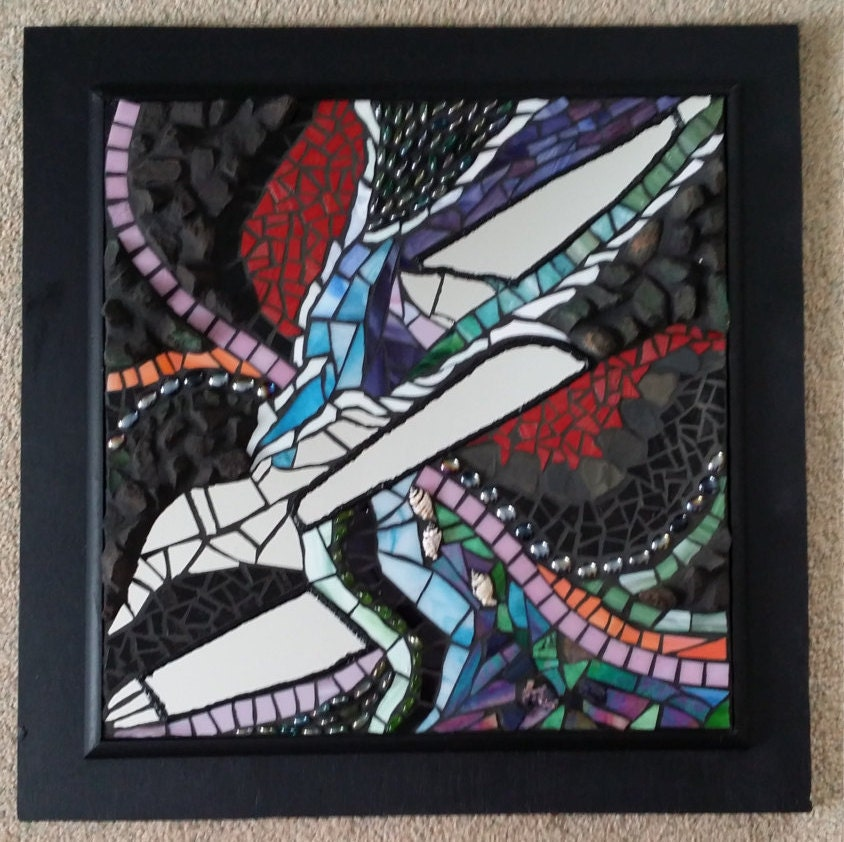 Mosaic Wall Art Abstract Stained Glass Stone
