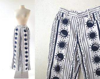 """Vintage 1970s Jeans / Solar Eclipse / White Jeans / 70s Jeans / 26"""" Waist XS"""