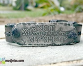 Not Throwing Away My Shot Bracelet, Alexander Hamilton, Motivational Bracelet, Unisex, Adjustable Men's Leather Bracelet, Broadway Musical