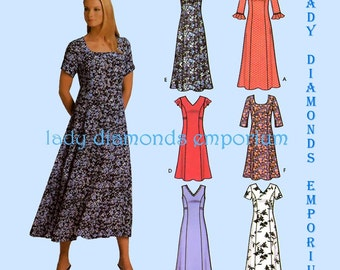 Simplicity 5189 Womens Pullover Princess Seam Dress size 8 10 12 14 Bust 31 1/2 32 1/2 34 36 Six Made Easy Sewing Pattern Uncut FF