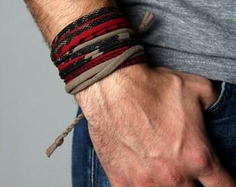 Gift For Men, Husband Gift, Boyfriend Gift, Stocking Stuffer, Gift For Boyfriend, Mens Bracelet, Wrap Bracelet, Gifts for Husband, Festival