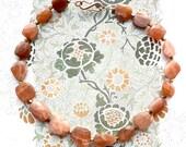 PEACH Moonstone Choker, Chunky Faceted Stone Necklace, Cottage Chic Choker, Urban Chic Choker, Elegant Choker, Wedding Jewelry, Party choker