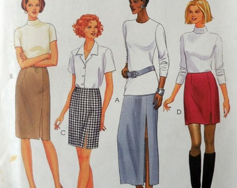 McCall's 9356 - Easy 2 HOUR Skirts - Long, Short, Medium - Business, Office, Clubbing, Casual, Anything - Size 10, 12, 14 - UNCUT Pattern
