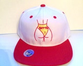 BUTTS- Embroidered Snapback Baseball Hat in Black, Red, or Blue