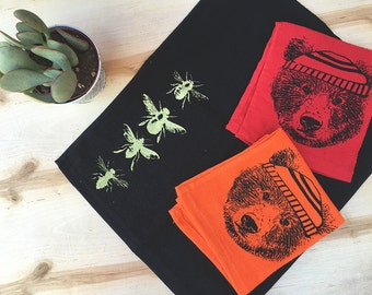 Hand Towel Set - PICK ANY 2 - Choose from 8 Designs / 8 Colors - For Rally Gym Cleaning or Bath