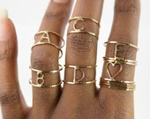 Initial Ring, Personalized Letter Ring