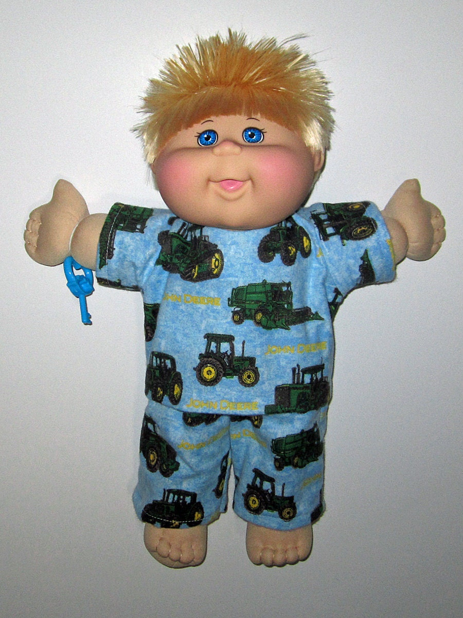 Cabbage Patch Kids Doll Clothes John Deere Pajamas Set