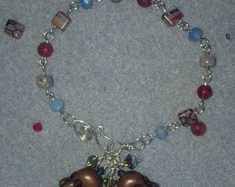 Bohemian Luv Sterling Silver Buddha Bracelet