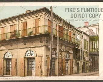 New Orleans, Louisiana 1903 Vintage Postcard - Old Absinthe House Lithograph (Unused)