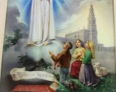 Our Lady of Fatima, religious picture, Vintage Spirituality & Religion, Nossa Senhora DE FATIMA, religious vintage,