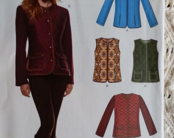 Newlook A6308 Misses Vest or Jacket Pattern Misses Sizes 10 to 22 Uncut Pattern