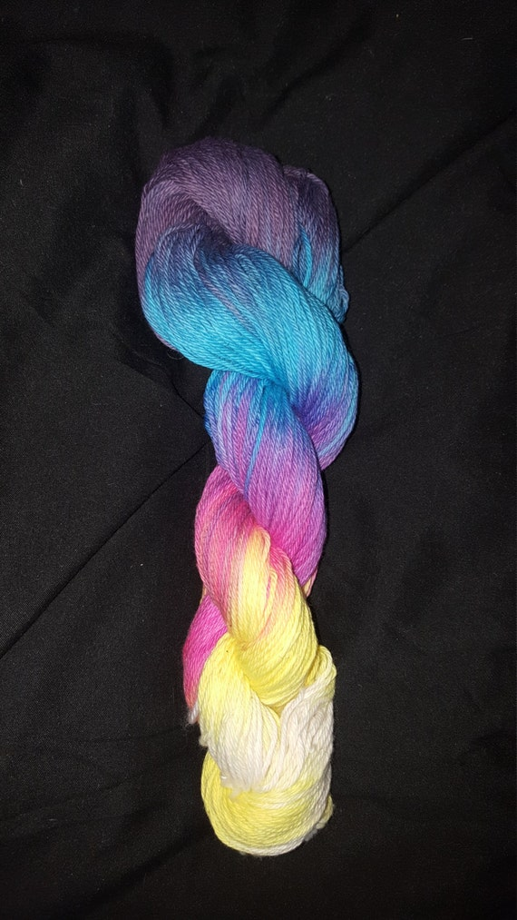 "Magic Show- ""Coney Island Collection"" 100 Organic Cotton Yarn, Hand Dyed, Rainbow"