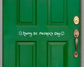 Front Door Decal, holiday decor, St. Patrick's Day decor, St. Patty's Day, lucky clover, Irish decal