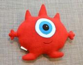 Red Plush Cyclops Monster, Chris