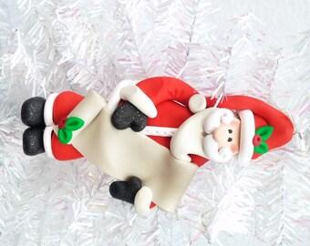 Personalized Santa Ornament - Santa with List Ornament - Nice List Ornament - Naughty List - Santa Collectible - Santa Collector - 816