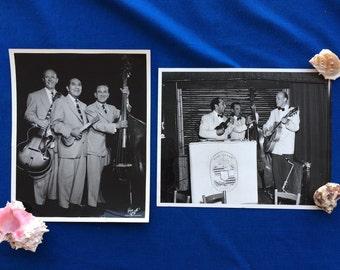 8 Vintage Black & White Photographs of King Nawahi Hawaii Music with Ukulele and Steel Guitar Hawaiian Tiki Restaurant 40's 50's