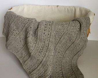 Crochet PATTERN Baby Afghan - Playful Stripes - Baby Afghan - Beginner