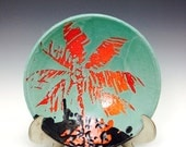 Bowl: Jade and Crimson Palm