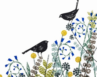 Well this is awkward limited edition hand made screen print by Jane Ormes