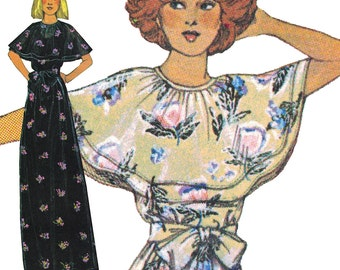 Romantic, Flowy Boho Dress with Bow! Vintage ©1977 McCall's Sewing Pattern 5871, Misses' Dresses, Sizes 10, 12 & 14, Uncut w/ Factory Folds