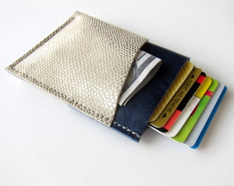 Mens Womens Real Genuine Leather Wallet 3 Triple Pocket - Larger Size - Minimalist