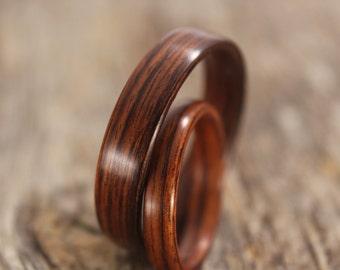 Wood ring set Etsy