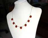 """Whiskey Quartz Necklace on Sterling Silver - """"Islay"""" by CircesHouse on Etsy"""