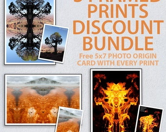Choose any 3 Framed Prints as a Bundle