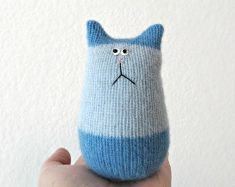 Felted Wool Cat - Stuffed Animal Cat - Tiny Cat Doll - Cat Lover Gift - Blue Cat - Soft Toy - Plush Toy Cat - Stuffed Toy - Plush Toy Cat