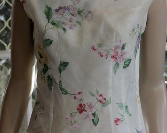 1950's reproduction Classic Summer Blouse. Vintage fabric