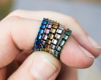 "Hematite Convex Cube Micro Beads 2x3mm 15"" CHOOSE COLOR"