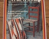 Vintage 70s WEAVING how-to book lamp shades, beach bag chairs
