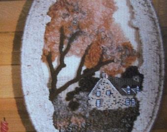 vintage WEAVING patterns scenery