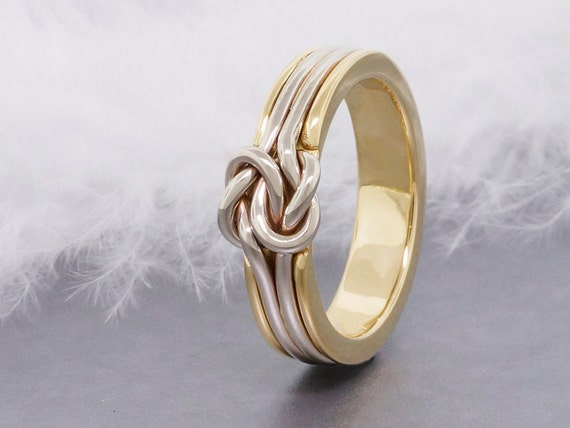 unique engagement ring double love knot gold by tdncreations