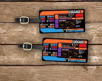 Printed Personalized Luggage Tags Star Space Trekkie Spaceship Panel  Custom Address Printed Metal Tags Luggage Tags, 2 Tags