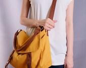 Sale20%OFF-Ready To Ship-Mustard Messenger Bag/school bag/purse/handbag/casual/shoulder bag/Messenger bag/for her/for him/women/men/tote-081