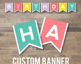 custom COLORS BANNER - diy printable