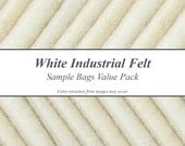 Natural White Industrial Felt Sample Bags Value Pack
