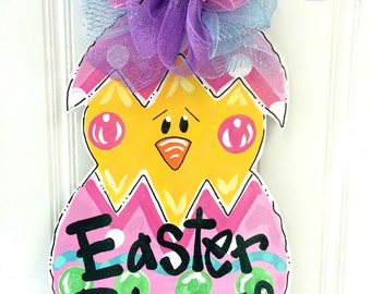 READY TO SHIP! Easter Chick Door Hanger