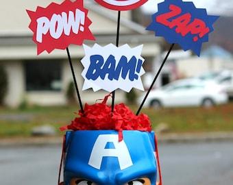 Captain America Avengers Marvel Superhero centerpiece kit