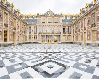 Paris Photography, The Marble Court, Versailles, Paris Art Print, Architecture Photography, French Wall Decor, Large Wall Art