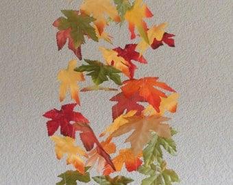 Whimsical Mobile Autumn Leaves Falling Maple Leaf Dangling Modern Decor