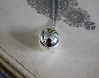 Silver Ball Locket - Round Locket