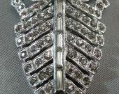 Art Deco 1920s Rhinestone Dress Clip, Statement Art Deco Jewelry, Fancy Art Deco Jewelry