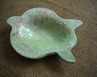 Green Turtle Bowl - Beach Tableware - Turtle Candy Dish or Soap Dish -  Nautical Dish