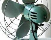 Cool Breezes, PHOTO, vintage turquoise fan, beautiful color, refreshing, MCM, wall art, feel good, nostalgic, farm house decor, apartment