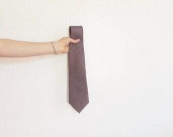 purple sharkskin neck tie . vintage metallic aubergine menswear .sale s a l e