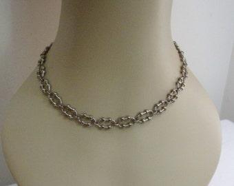 Vintage Avon Industrial Chain Silver Tone Necklace